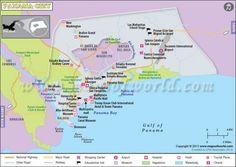 awesome Panama City Map