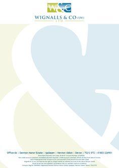 Client Letterhead Design http://enzby.co.uk/portfolio