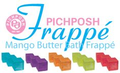 "PICHPOSH Mango Butter Bath Frappé  A Solid, fruit-scented mixture that is similar to Sherbet and treats you like a Dessert or Appetizer as it pours healing Mango Butter over your body! This product follows in the foot steps of the always popular PICHPOSH ""Soak & Melt"". These bath cubes are drenched in rich, sensuous mango butter to produce a healthy looking smooth finish to your skin. Please Visit PICHPOSH.com"