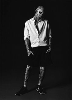 Rick genest - zombie boy in suits