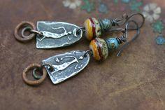 Rustic Tribal Primitive 'African Soul' earrings n200 by Tribalis