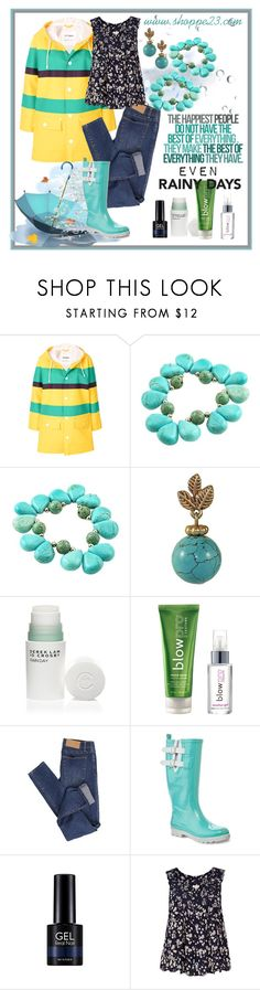 """Even on Rainy Days"" by shoppe23 ❤ liked on Polyvore featuring Marni, 10 Crosby Derek Lam, blow, Cheap Monday, Henry Ferrera, Missha, River Island, fashionjewelry, rainydayoutfit and turquoisejewelry"