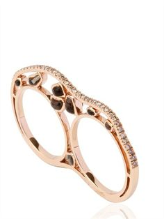 NESSA - K.O. ROSE GOLD AND DIAMONDS RING
