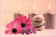 Entspannen im Schein der Kerzen.  Auch als Poster versprühen sie eine wohlige Stimmung.