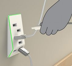 This wonderful power adapter can remind user if it overload!