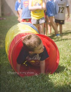Superhero Training Camp:  Tight Space for a Superhero -- Superhero Party Game Idea