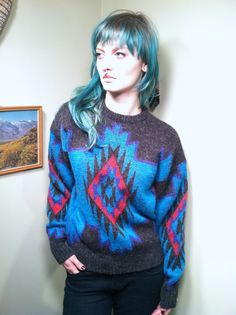DESERT SOLSTICE Bright Southwest Motif Wool by WOLFSclothing, $28.00