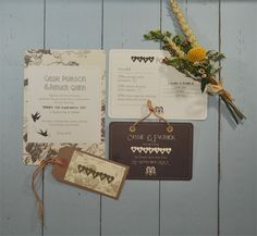 Rustic wedding stationery perfect for a summer wedding