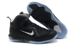 Ken Griffey Shoes Nike LeBron 9 Black White Blue [Nike LeBron 9 - Black continues to make its rounds on the LeBron line. Seen from the images of the Nike LeBron 9 Black White Blue gives us another look at what to expect from this cool colorway. Lebron 9 Shoes, Nike Lebron, Nike Clearance, Clearance Shoes, Michael Jordan Shoes, Air Jordan Shoes, James Lebron, White Basketball Shoes, Shoes Outlet