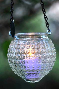 Vintage glass candle holder - mason jar alternative