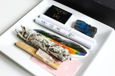 Embrace the power of positivity with this crystal kit. From Moon & Jai. Crystal Magic, Crystal Healing, Altar Design, Pull Out Drawers, Kit, Meaningful Gifts, Boho, Labradorite, Bookmarks