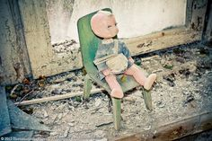 Since Pripyat was quickly abandoned, many of the residents' personal items can still be found strewn about. Chernobyl 1986, Chernobyl Disaster, Chernobyl Nuclear Power Plant, How To Look Pretty, Dolls, Abandoned Mansions, Beautiful, Sad, Inspiration