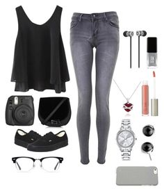 """""""black 2"""" by meen16 ❤ liked on Polyvore featuring Fujifilm, Vans, Mestige, Amanda Rose Collection, Ilia, Ace, JINsoon and Klix"""