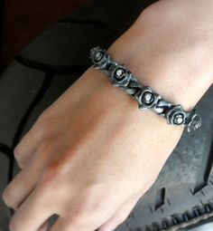 Tiny Perfect Collateral Rose Bracelet with Diamonds