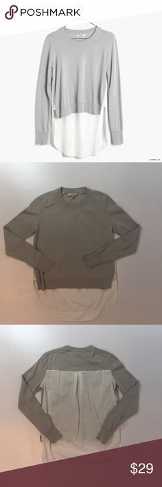 Madewell Mixer Pullover Sweater Blouse So cute and perfectly on trend! Excellent condition - like new. Size XS. Madewell Sweaters