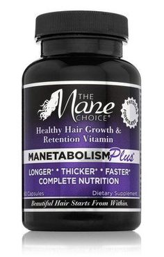 Manetabolism Plus is a daily complete dietary supplement formulated to grow hair on the scalp longer, thicker, faster and healthier. A multi-cultural healthy hair growth and retention vitamin. Physici