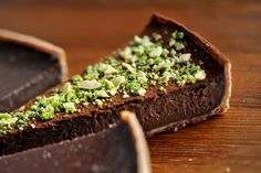 A collection of impressive chocolate tart recipes from Great British Chefs includes a bitter chocolate and malt tart and a chocolate and chilli tart Chocolate Malt, Chocolate Cream Cheese, Chocolate Desserts, Tart Recipes, Dessert Recipes, Caramel Ice Cream, Dinner Party Recipes, Dinner Parties, Make Ahead Desserts