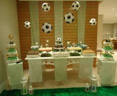 decorações com bolas de futebol