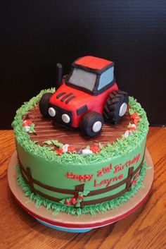 red tractor cakes - Google Search