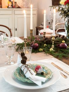 rustic tablescape for Christmas