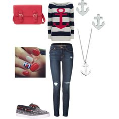 Nautical Outfit by tabitha-rose-13 on Polyvore