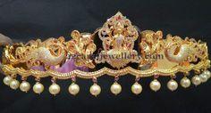Gold Jewelry Design In India Gold Pendant, Pendant Jewelry, Gold Jewelry, Jewelery, Indian Jewellery Design, Jewelry Design, Gold Waist Belt, Waist Belts, Vaddanam Designs