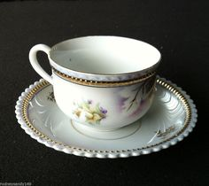 Beautiful Silesia England with Small Flowers  Cup & Saucer #Silesia