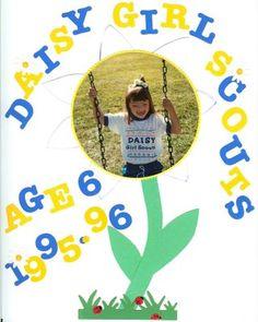 daisy girl scout photo- scrapbook page idea