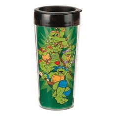 Teenage Mutant Ninja Turtles TMNT 16 oz. Surround Design Travel Mug Double Wall