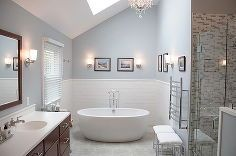 master bath in thornton pa, bathroom ideas, home decor, MTI Olivia Freestanding Soaker tub