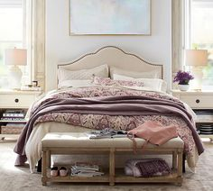 Need bedroom inspiration? Shop Pottery Barn for stylish bedroom furniture and decor. Create an warm and cozy bedroom oasis with quality bedding in classic styles and colors. Pottery Barn Furniture, Bedroom Furniture, Home Furniture, Bedroom Decor, Bedroom Ideas, Master Bedroom, Rustic Furniture, Master Suite, Navy Furniture