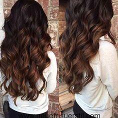 Braun zu Rot Ombre Haar-Farbe-Stil