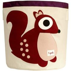 3 Sprouts Storage Bin, Squirrel (Berry) with *BONUS* Tooth Tissues by 3 Sprouts, http://www.amazon.com/dp/B008TRYN6S/ref=cm_sw_r_pi_dp_-nl7qb1NDK6YJ