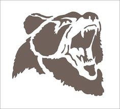 Bear **Stencil** 7 sizes available- Create Lodge Western Cabin Signs and Cabin…