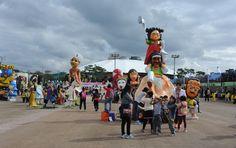 탈춤축제장 곳곳에서 인기리에 진행되고 있는 체험학습(2016. 10. 7)