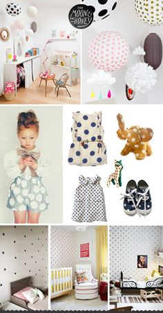 The Moon & The Honey Polka Dots for the little kids rooms, children