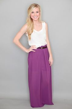 Luck of the Irish Maxi Skirt-Grape-- They ran out of green but now they have purple.. I need the whole outfit.