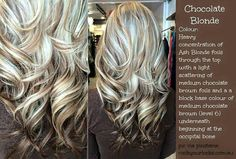 Chocolate blonde colored hair