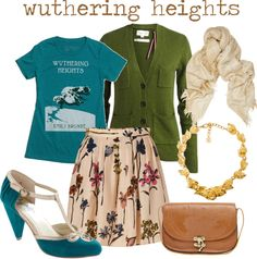 Lovely Undergrad: Literary Chic | Fashion by the Books.  Don't hate me, but I love this site!  I'm such a nerd!