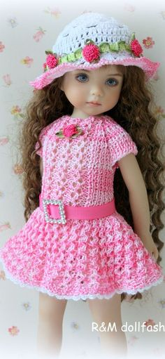 Little Darling, Effner Crochet Doll Clothes, Knitted Dolls, Girl Doll Clothes, Doll Clothes Patterns, Crochet Dolls, Barbie Clothes, Girl Dolls, Baby Dolls, Reborn Toddler Dolls