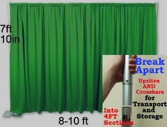 The Pipe and Drape Portable Backdrop Kit from OnlneEEI.com. Easy to set up and transport!