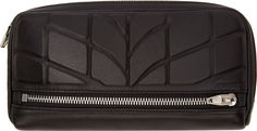 Alexander Wang Black Embossed Leather Fumo Continental Wallet