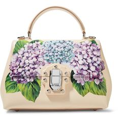 Dolce & Gabbana Lucia small printed textured-leather tote featuring polyvore, women's fashion, bags, handbags, tote bags, pastel pink, white tote bag, tote handbags, handbags totes, dolce gabbana handbags and pink tote bags