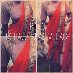 Stitched saree with legging. Indowestern sari with no hassle of tying the saree. For order/details/customisation contact us on +918800511005 or www.facebook.com/riccoindia or ricco17hkv@gmail.com