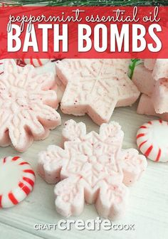 Create your own home spa by adding Peppermint Bath Bombs and enjoying a relaxing evening in, reading a book, or listening to a little music.
