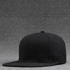 e9f326fb0c890 PLZ Hip hop Dot gorras planas snapback Men Print Baseball Cap Women Unisex  Hat White Black Skateboard Bboy Rapper Hat 55-59cm