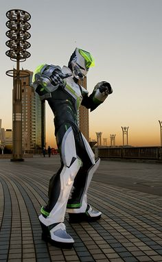 Wild Tiger from Tiger & Bunny - that's an awesome suit for a dorky sounding anime!