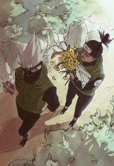 Kakashi and Iruka Kakashi And Obito, Naruto Kakashi, Anime Naruto, Naruto Couples, Wallpaper Naruto Shippuden, Naruto Characters, Boruto, Character Design, Fan Art