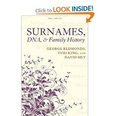 Genealogy book - surname study/DNA