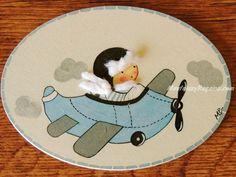Placa infantil para puerta modelo niño con avioneta #placas para puerta